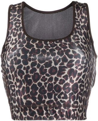 Golden Goose leopard sports bra