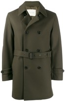 MACKINTOSH FETLAR Dark Olive Wool Short Trench Coat | GM-1014F