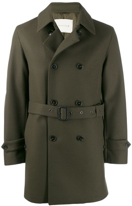 MACKINTOSH Fetlar wool short trench coat