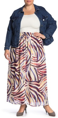 Junarose Jrzana Patterned Maxi Skirt (Plus Size)