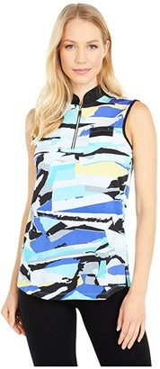 Jamie Sadock Jenga Print Sleeveless Top (Fiji) Women's Clothing