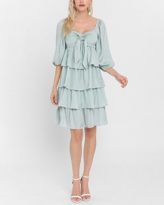 Express English Factory Tiered Midi Dress
