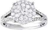 MODERN BRIDE Brilliant Dream 1 CT. T.W. Diamond Cluster Split-Shank Engagement Ring