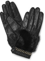 Rebecca Minkoff Fur Patch Glove With Stud