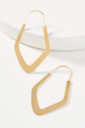 Anthropologie Monty Hoop Earrings By in Gold Size ALL