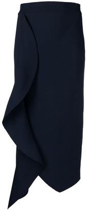 Alexander McQueen Draped High-Waisted Pencil Skirt