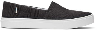 Toms Black Woven Parker Slip-On