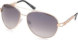 Laundry by Design Women's Ld281 Rgdox Non-Polarized Iridium Aviator Sunglasses