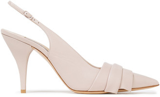 Casadei Duse Pleated Leather Pumps