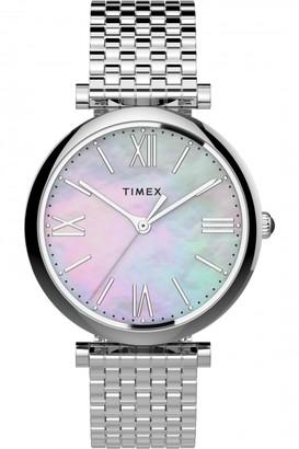 Timex Parisienne 35Mm Stainless Steel Bracelet Watch
