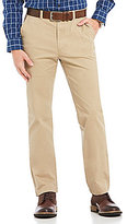 Roundtree & Yorke Casuals Straight Fit Flat-Front Washed Chino Pants