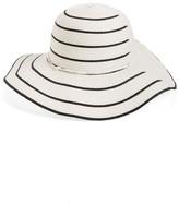 David & Young Stripe Straw Floppy Hat