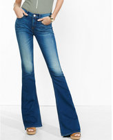 Express mid rise bell flare jeans