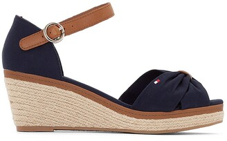 Tommy Hilfiger Elba Espadrille Wedge Heel Sandals with Ankle Cuff