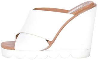 See by Chloe White Leather Mules & Clogs