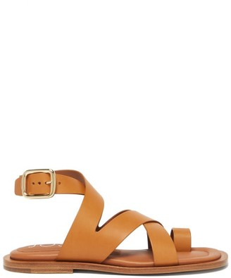 Joseph Crossover Leather Sandals - Womens - Tan