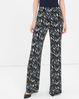 White House Black Market Geo Zigzag Wide-Leg Knit Pants