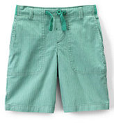 Classic Boys Husky Pull-on Pattern Beach Shorts-Nectarine Pincord