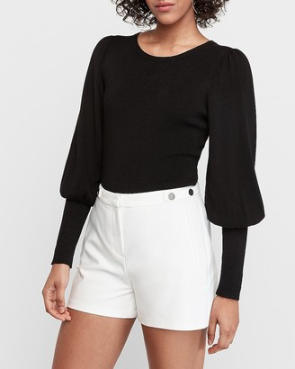 Express High Waisted Button Tab Shorts