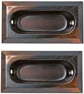 Rejuvenation Pair of NOS Japanned Copper Sash Lifts