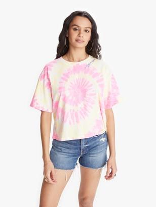 I Stole My Boyfriend's Shirt Cosmo Tie Dye MOTHER Tee - Pink