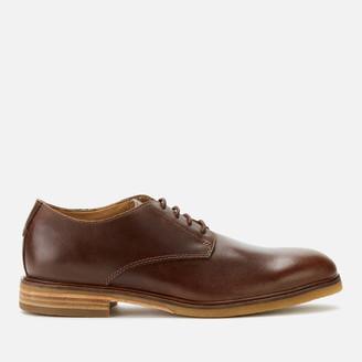 Clarks Men's Clarkdale Moon Leather Derby Shoes - Dark Tan