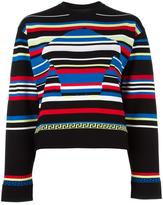 Versace striped Medusa Head motif jumper - women - Polyester/Viscose - 38