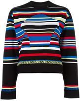 Versace striped Medusa Head motif jumper - women - Polyester/Viscose - 40