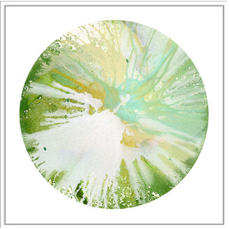 Jonathan Bass Studio Spin Art 10, Decorative Framed Hand Embellished Canvas