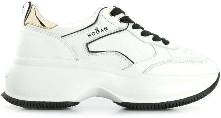 Hogan chunky low top trainers