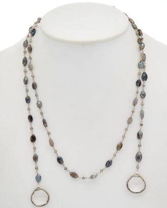 Rachel Reinhardt Silver Gemstone 38In Necklace