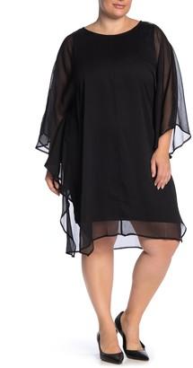 Junarose Jrsaduno Mesh Overlay Dress (Plus Size)