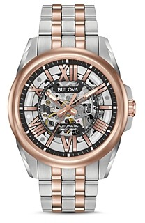 Bulova Automatic Skeleton Watch, 43mm
