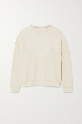 The Great The Western Paneled Cotton-jersey Sweatshirt - White