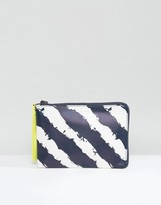 Pauls Boutique Stripe Pouch Clutch Bag