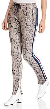 Pam & Gela Animal-Print Cigarette Track Pants