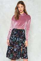 Nasty Gal nastygal Just a Touch Velvet Sweatshirt