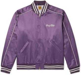 Human Made Logo-Embroidered Cotton-Blend Satin Bomber Jacket