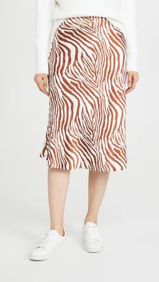 re:named apparel re:named Wild Zebra Midi Skirt