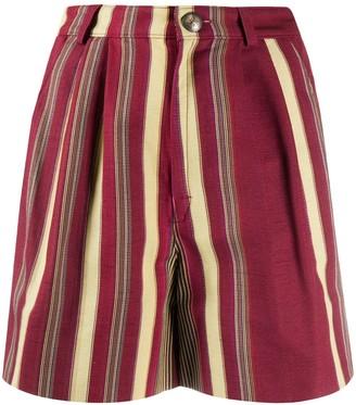 Etro Striped High-Waisted Shorts