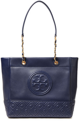 Tory Burch Fleming Embossed Quilted Leather Tote