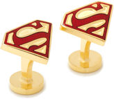 Asstd National Brand DC Comics Gold-Enamel Superman Shield Cuff Links