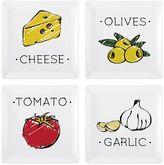 Pfaltzgraff Vegetables 4-pc. Square Appetizer Plate Set
