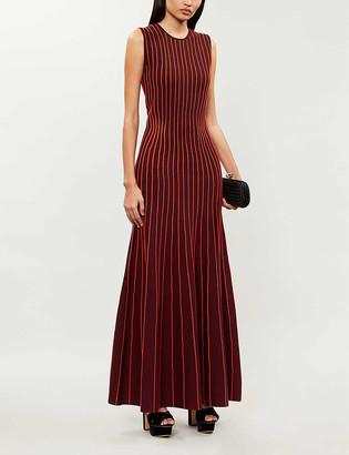 Gabriela Hearst Geanne wool-blend maxi racer dress