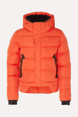 TEMPLA Nano Hooded Quilted Shell Down Coat - Bright orange