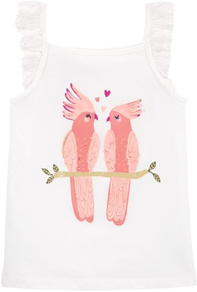 Carter's Girls 4-12 Glitter Love Bird Jersey Tank