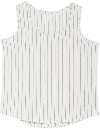 Caslon Striped Sleeveless Shell (Regular & Petite)