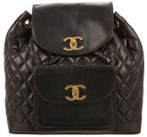 Chanel Quilted Leather Backpack