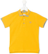 Armani Junior logo polo shirt - kids - Cotton - 4 yrs