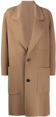 Ami Unstructured Two-Button Coat